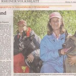Canaille and Anne in German Newspaper